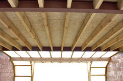 Fiberglass batt insulation Royalty Free Stock Image