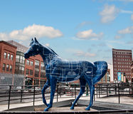 Fiberglass horse Royalty Free Stock Photography