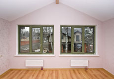 Fiberglass windows with decor Stock Photos