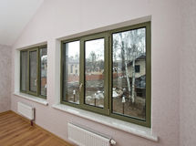 Fiberglass windows with decor Stock Images