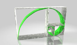 Fibonacci 3D de cadena Foto de archivo libre de regalías