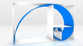 Fibonacci chain 3D. Three dimensional expression of the Fibonacci chain Stock Photo