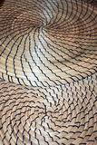 Fibonacci Multiple Contrasting Spirally formed dry grass mats Stock Image