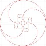 Fibonacci spirala złoty stosunek ilustracji