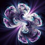 Fibonnaci Neon Brain Fractal Art. Apophysis rendered fractal art Stock Images