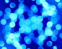 Fibra óptica azul Imagens de Stock