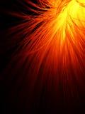 Fibra óptica no vermelho do incêndio foto de stock