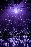 Fibra óptica violeta. Foto de archivo