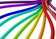Fibra 6 de la conexión de cable ilustración del vector