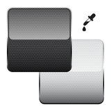 Fibra in bianco e nero del carbonio Immagine Stock