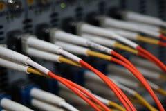 Fibra - cavi ottici Fotografia Stock Libera da Diritti