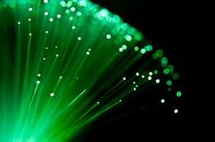 Fibra da esmeralda - estouro ótico. Imagem de Stock Royalty Free