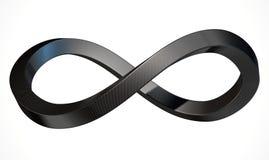 Fibra de carbono del símbolo del infinito ilustración del vector