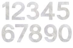 Fibra de prata ajustada do número Fotografia de Stock Royalty Free
