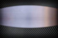 Fibra do carbono e fundo de aço inoxidável da textura do metal Fotografia de Stock Royalty Free