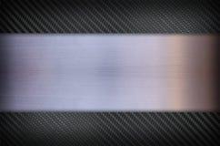 Fibra do carbono e fundo de aço inoxidável da textura do metal Fotos de Stock Royalty Free