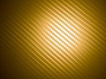 Fibra dorata del carbonio Immagine Stock Libera da Diritti