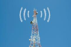 Fibra longa da antena das comunicações Imagens de Stock