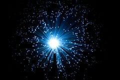 Fibra - luz ótica Imagem de Stock Royalty Free