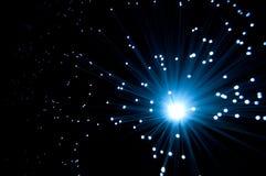 Fibra - luzes óticas Fotografia de Stock