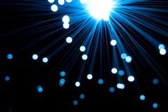 Fibra - luzes óticas Foto de Stock Royalty Free