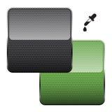 Fibra nera e verde del carbonio e vettore della raccoglitrice di colore Fotografia Stock
