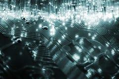 A fibra ottica Fotografia Stock Libera da Diritti