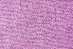 Fibra rosa del tessuto - vestiti della tavola Fotografia Stock