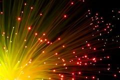 Fibras ópticas anaranjadas Fotografía de archivo