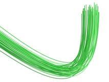 Fibras ópticas - ejemplo 3D Imagenes de archivo