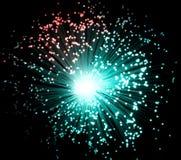 Fibras ópticas plásticas Foto de archivo libre de regalías
