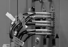 Fibras óticas com conectores de SC/LC imagens de stock royalty free