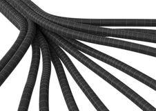 Fibre 8 de jonction de câble Illustration Stock