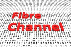 Fibre channel. In the form of binary code, 3D illustration royalty free illustration