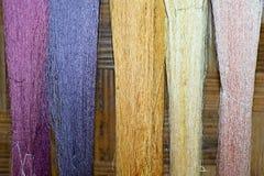 Fibre en soie Photographie stock