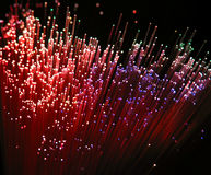 Fibre optic. Strands from a fibre optic lamp royalty free stock photos