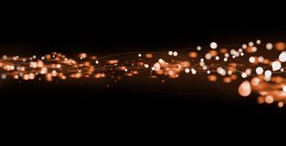 Fibre optic abstract Stock Photography