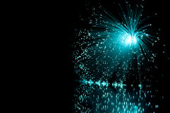 Fibre optic burst. Stock Image