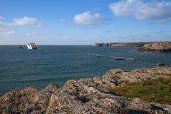 Fibre Optic cable coming ashore Royalty Free Stock Photo