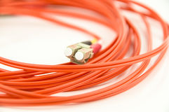 Fibre optic cable - patch lead Stock Photo