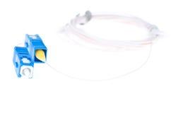Fibre Optic Network Cable Stock Photo