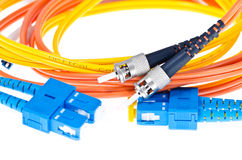 Fibre Optic Network Cable Stock Images