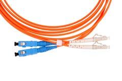 Fibre Optic Network Cables Stock Photo