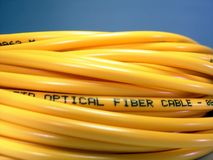 Fibre Optic Patch Cord. Used in high speed communication royalty free stock image