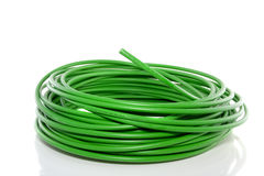 Fibre optical green cable Royalty Free Stock Image