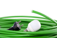 Fibre optical green cable Stock Photography