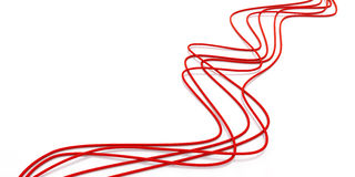 Fibre-optical red cables. On a white background Stock Image