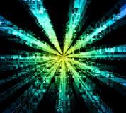 Fibre Optics. And transfer of data visualisation stock illustration