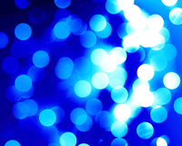 Fibre optics. Beautiful blue fibre optics on a blue background Stock Photos