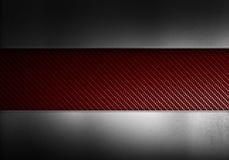 Fibre rouge de carbone avec la texture en métal illustration libre de droits